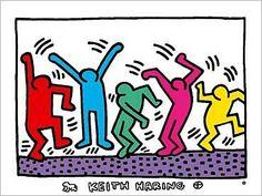 Malvorlagen Keith Haring Bilder zum ausmalen  party  80s