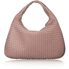 Bottega Veneta Large Veneta intrecciato leather shoulder bag ($2,570) ❤ liked on Polyvore featuring bags, handbags, shoulder bags, genuine leather purse, antique purse, leather shoulder bag, brown purse and leather shoulder handbags