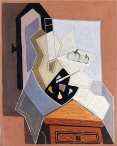 Juan Gris (1887 - 1927) | Synthetic Cubism | Still Life at the Open Windowq - 1925