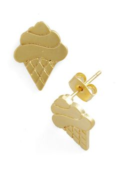 somebody please get me these. I Cone Dig It Earrings, #ModCloth