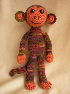 Spunky Monkey Crochet Amigurumi Pattern by CraftyDebDesigns, $3.98