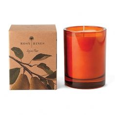 Rosy Rings Anjou Pear Candle