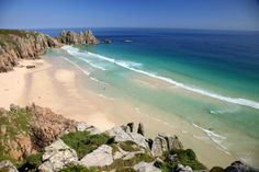 10 of the best coastal swimming spots in Devon and Cornwall - Pedn Vounder, West Cornwall Camping In Maine, Camping Spots, Beach Camping, Beach Trip, Rv Camping, West Cornwall, Devon And Cornwall, Cornwall England, Cornwall Coast