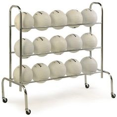 Other Basketball 2023: Tandem Sport 3-Tier Ball Rack BUY IT NOW ONLY: $58.57