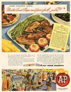 A & P Advertisement from 1946, We Loved the Redeemable Catalog Stamps Traded for Appliances & Accesories From the A & P