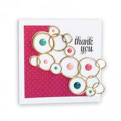Bright Bubbles Thank You Card