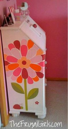 How to Revamp Old Dressers... with Wall Clings! ~ at TheFrugalGirls.com