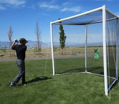 Golf Net - Turn your backyard into a driving range with this full size professional golf practice driving net by Airgoal