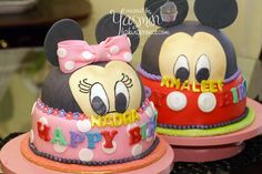 3d cakes   Mickey and Minnie mouse cakes   Flickr - Photo Sharing!