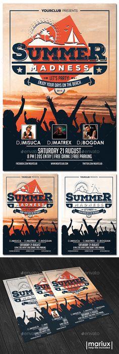 Summer Beach Party Flyer Tempalte #design Download: http://graphicriver.net/item/summer-beach-party-flyer-/11023436?ref=ksioks