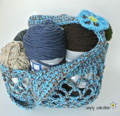 Sturdiest Ever Farmers Market Crochet Bag Pattern | Tutorial FaveCrafts.com ༺✿ƬⱤღ  http://www.pinterest.com/teretegui/✿༻