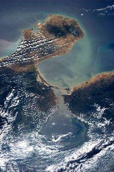 Lago de Maracaibo, Venezuela., visto desde el espacio.