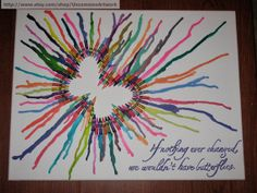 Melted Crayon Art  Butterfly Changes by UncommonArtwork on Etsy, $60.00