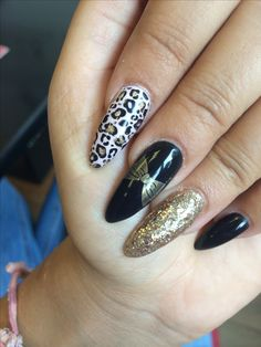 Black and Gold with Leopard