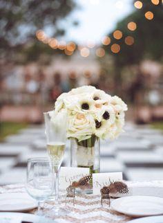 anemone bridal bouquet    photo by Kallima Photography   http://www.100layercake.com/blog/2013/07/15/elegant-florida-art-museum-wedding-heather-carson/