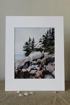Watercolor 8 x10 Print with a 11x14 Mat by LandandSeaArtStudio