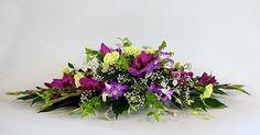 Horizontal Flower Arrangements | FLOWER ARRANGING BY CHRISSIE HARTEN - DESIGN 303