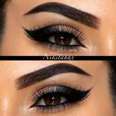 Nikita R mingles allure and class with her dramatic winged cut crease. Bag her gaze with these makeup must-haves.
