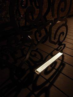 solar line Amber on wood deck