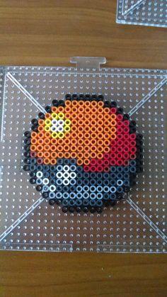 Poke Ball - Pokemon perler beads