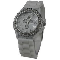 Peace Be With U - White Christian Watch - Round Face - Silicone Rhinestoned, $19.99 (http://www.peacebewithu.com/white-christian-watch-round-face-silicone-rhinestoned/)