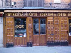 Botin, the oldest restaurant in Madrid. Speciality: whole roast piglet.