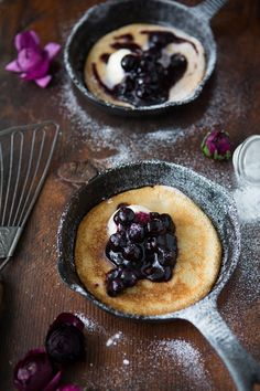 Blueberry mascarpone pancakes  Borrowed-light.com