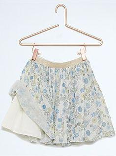 Falda de gasa estampada - Kiabi