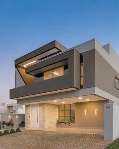 48 best of minimalist houses design 44 House Designs Exterior design houses minimalist Modern Exterior House Designs, Modern House Facades, Dream House Exterior, Modern Architecture House, Modern House Design, Exterior Design, Architecture Design, Modern Houses, Architecture Colleges