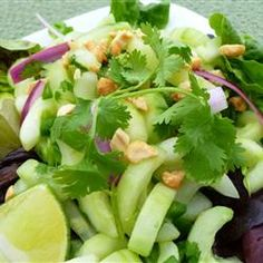"Thai Cucumber Salad | ""I have made this so many times. It's delicious and a great side to grilled meat/BBQ. Perfect summertime salad, but I think I'll be eating this year round!"""