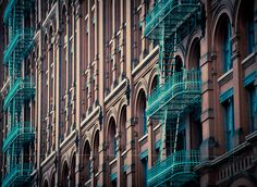 Fire escapes in NYC