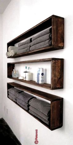 47 ideas of shelves for the home that you can make yourself The shelves right . - home accessories - 47 ideas of shelves for the house that you can make yourself The shelves right - deko ideen Diy Home Decor On A Budget, Decorating On A Budget, Diy Projects On A Budget, Diy Storage, Diy Organization, Storage Ideas, Wall Shelving, Drawer Shelves, Toilet Storage