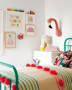 We all know how difficult it is to decorate a kids bedroom. A special place for any type of kid, this Shop The Look will get you all the kid's bedroom decor ide Girls Room Design, Design Living Room, Nursery Design, Trendy Bedroom, Girls Bedroom, Master Bedrooms, Childs Bedroom, Kid Bedrooms, Modern Bedroom
