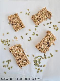 Homemade Granola Bars are so easy to make, you will never buy them again.  Use this recipe as a base and add in your favorite ingredients!  #vegan #glutenfree #granolabars #healthyrecipe