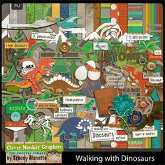 Walking with Dinosaurs by Clever Monkey Graphics - Digital scrapbooking kits available through Oscraps, GingerScraps, or MyMemories