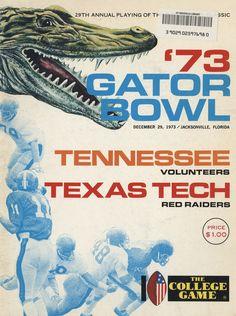 1973 Football Program - UT vs Texas Tech (Gator Bowl)