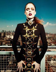 """Coco On Top"" | Model: Coco Rocha, Photographer: Yin Chao, Harper's Bazaar China, September 2013"