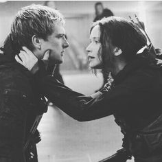 """""""Stay with me!""""  """"Always"""" . Cry moment here! He thinks that she is a mutt. She thinks that she is deadly. He doesn't remember a lot of good things about her. The Capitol took all of those away. But he remembers that. He still remembers that night on the train with her."""