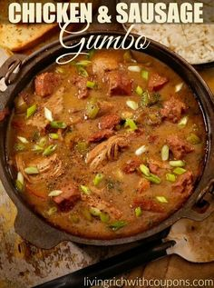 Fat Tuesday Gumbo Recipe. Try some thing a little different. This gumbo is made with chicken and sausage. You can add shrimp, clams, pork or whatever you like. Enjoy!