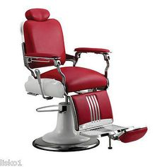 Toward the future with the durability and design of the Koken Legacy Barber Chair by Takara Belmont. Look to the past with an eye. Black or red only. Model # Optional Features and synchronized legrest (reclining handle on right side only), Towel holder. Barber Shop Chairs, Barber Chair, Barber Shop Pole, Red Barber, Barber Accessories, Salon Stations, Barbershop Design, Salon Equipment, Towel Holder