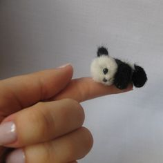 ♥Micro Panda Pattern,too cute♥...hold the ☎...were any actual micro pandas harmed in the making of this pin??? lol