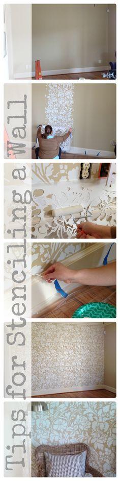 Stenciling a wall