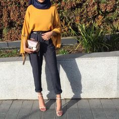 Best Ideas For Style Hijab Simple Outfits Islamic Fashion, Muslim Fashion, Modest Fashion, Hijab Fashion, Fashion Outfits, Fashion Ideas, Fashion Trends, Modest Dresses, Modest Outfits