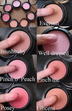 mac blushes. Blush baby and pinch me are my favorite! www.cheaparmacmakeup.com