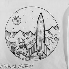 Spacescape design by @ankalavrivtattoo up for grabs. #scenery #space #universe…