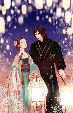 Afterblossom - Today is Chinese Valentine Qixi 七夕, also known as. Kylo Rey, Kylo Ren And Rey, Star Wars Vii, Star Wars Fan Art, Asian Crafts, Tanabata, Reylo, Doujinshi, Japan