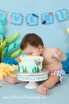 South Jersey Photographer: K Artocin Photography | 1st Birthday/Cake Smash, boy, under the sea