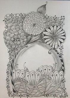 Doodled Art: Gazing ball by Lynn Vaughn Allen, via Flickr