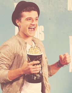 If he's this happy getting the golden popcorn imagine how happy he'll be when he gets an Oscar.