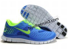pretty nice 82de0 0ea6d Mens Nike Free 4.0 V2 Game Royal Electric Green Blue (US SIZE 7 - US